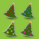 Felt Christmas tree Royalty Free Stock Images