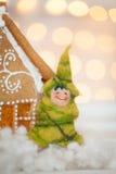 Felt christmas tree Royalty Free Stock Image
