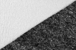 Felt cloth. A closeup of two monocrome  craft felts Royalty Free Stock Photo