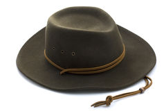 Felt cowboy hat on white background Royalty Free Stock Images