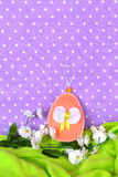 Felt Easter egg - handmade crafts, children sewing Royalty Free Stock Photo