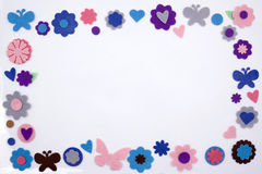 Felt embellishment frame. A coloful frame made by stars diferent kind of embellishment Stock Image