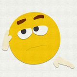 Felt Emoticon Bored Royalty Free Stock Image