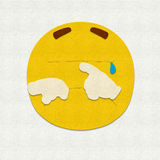 Felt Emoticon Crying Stock Images