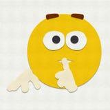 Felt Emoticon Quiet Royalty Free Stock Photos