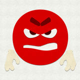 Felt Emoticon Rage Stock Image