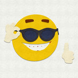 Felt Emoticon Sunglasses Royalty Free Stock Images