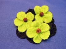 Felt flower Stock Images