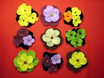 Felt flowers Royalty Free Stock Photography