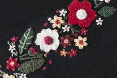 Felt flowers Stock Photos