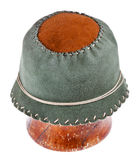 Felt green soft cloche hat Stock Photography