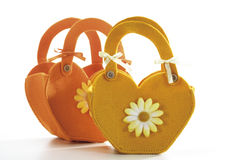 Felt handbags, close-up Stock Photo