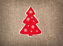 Felt handmade Christmas tree Stock Photo