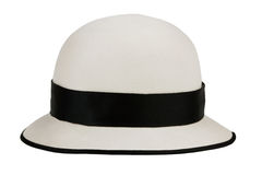Felt hat, like a pot Royalty Free Stock Images