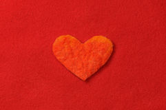 Felt heart Royalty Free Stock Photography