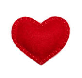 Felt heart Stock Photography