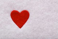 Felt heart Royalty Free Stock Images