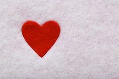 Felt heart Royalty Free Stock Images