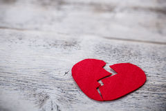 Felt heart Royalty Free Stock Photo
