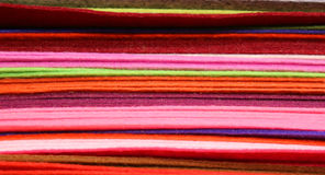 Felt for hobbyists and decorators in wholesale Royalty Free Stock Images