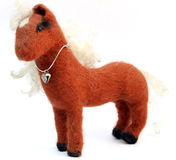 Felt horse Royalty Free Stock Photography