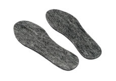 Felt insoles for shoes Royalty Free Stock Photography