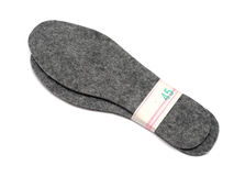 Felt insoles for shoes Stock Images