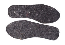 Felt insoles for shoes isolated on white background Royalty Free Stock Photos