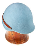 Felt light blue soft cap Royalty Free Stock Photos
