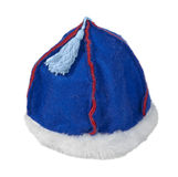 Felt Mongolian Hat with Fur Trim Stock Images