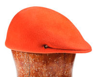 Felt orange flat cap Stock Photos