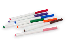 Felt pen. On a white backround isolated royalty free stock photography