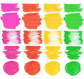Felt pen spots and marks Royalty Free Stock Images