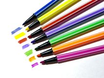 Felt pens Stock Photos
