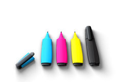 Felt pens  Royalty Free Stock Image