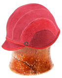 Felt red soft cap Royalty Free Stock Photography