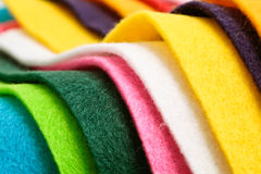 Felt. Selection of colorful felt sheets stock photography