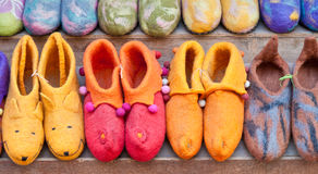 Felt shoes, Nepal Royalty Free Stock Photo