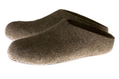 Felt slippers Royalty Free Stock Images