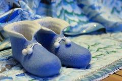 Felt slippers Royalty Free Stock Photo
