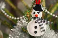 Felt snowman Stock Image