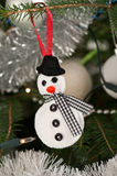 Felt snowman Stock Photography