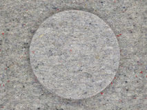 Felt, structure, gray, circular Royalty Free Stock Photo