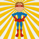 Felt Superhero Power Pose Royalty Free Stock Photography