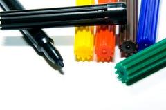 Felt-tip Federn der Farbe Stockbild