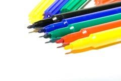 Felt-tip Federn der Farbe Stockfotografie