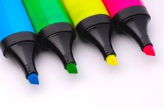 Felt Tip Highlighter Markers Stock Image
