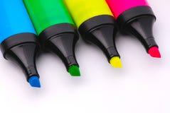 Felt Tip Highlighter Markers Stock Image