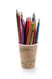 Felt-tip pen. Over a white background royalty free stock photo