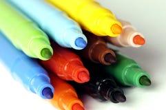 Felt-tip pen. Pack of felt-tip pens isolated on white background royalty free stock photo